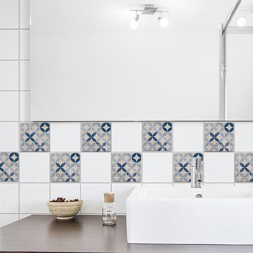 Sticker adhésif pour carrelage de salle de bain Antico Acores