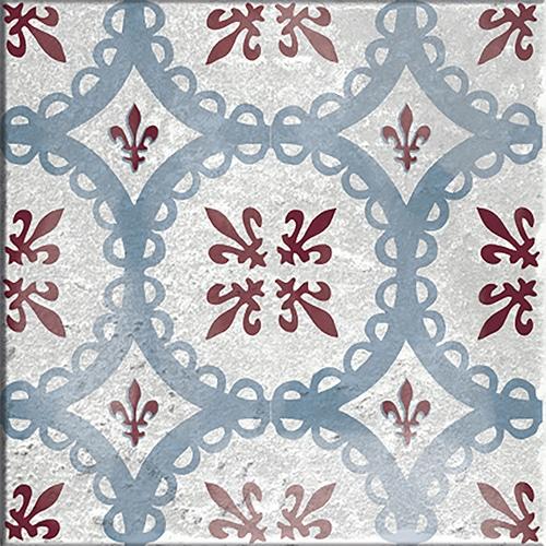 Sticker autocollant gris et rouge décoration d'intérieur Antico Marvao pour carrelage