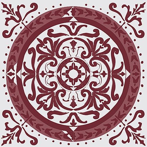 Sticker Adhésif décoration intérieur imitation ciment rouge