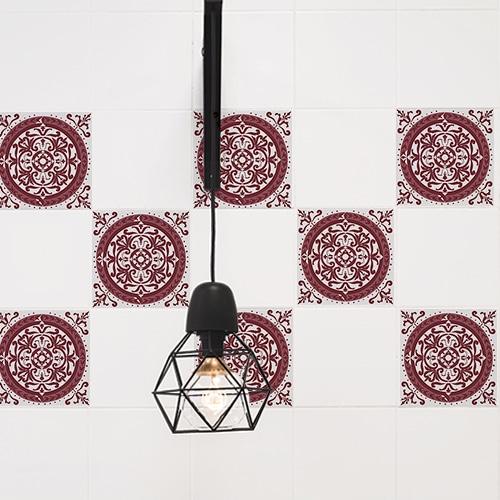 Adhésif pour carrelage ciment rouge décoration intérieur de carreaux de cuisine