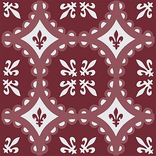 Sticker autocollant imitation ciment motif rouge pour carrelage