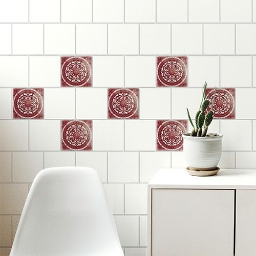 Sticker adhésif Antico Olhao décoration pour carrelage au dessus d'une table basse
