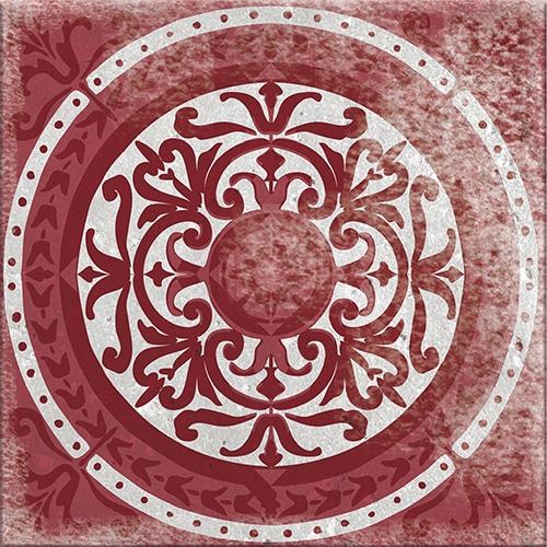 Sticker autocollant collection Antico Olhao gris et rouge déco intérieure