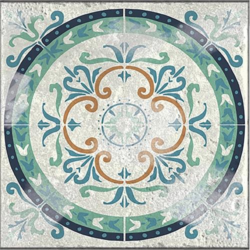 Sticker adhésif gris déco intérieur motif Antico Evora pour carrelage