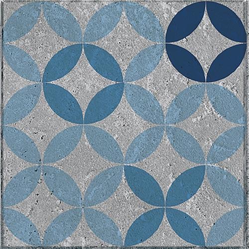 Sticker adhésif bleu collection Naxos pour carrelage mural
