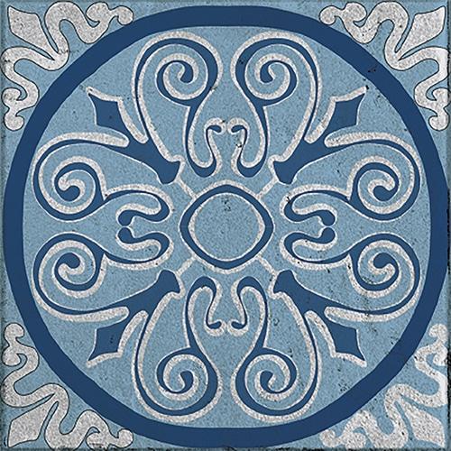 sticker adhésif bleu collection Naxos pour déco carrelage