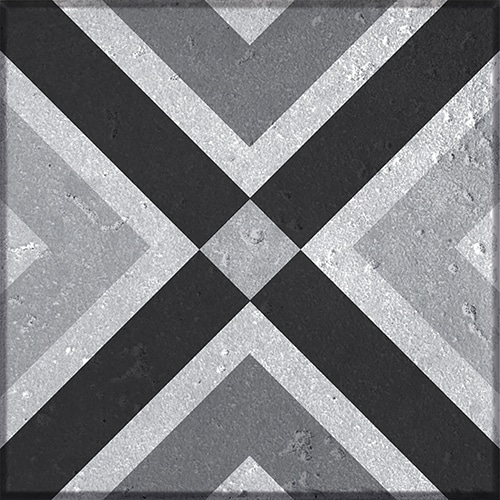 Sticker autocollant gris déco motif Faenza pour carrelage mural