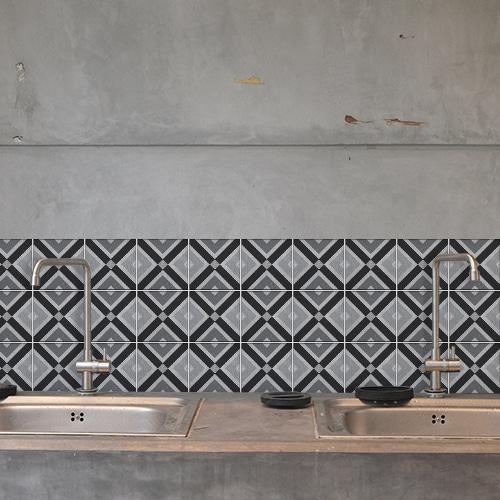 Sticker Faenza au dessus d'un évier décoration pour carrelage