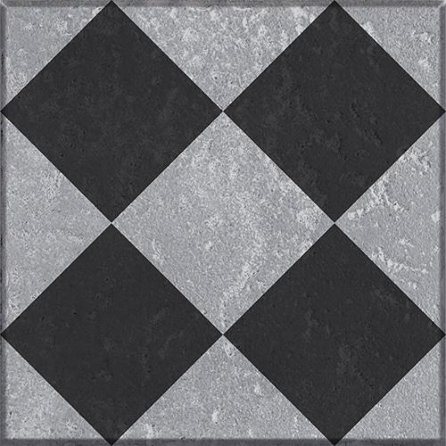 Sticker adhésif noir et gris pour carrelage mural collection Faenza