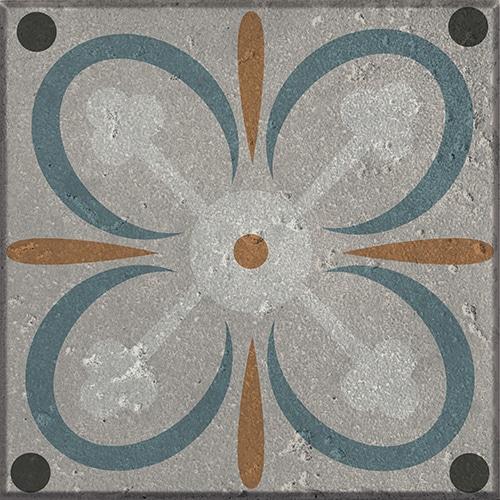 Adhésif décoration imitation ciment vert et orange pour carreaux de cuisine