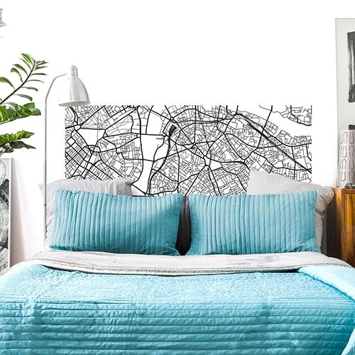 Sticker Plan de Londres pour tête de lit
