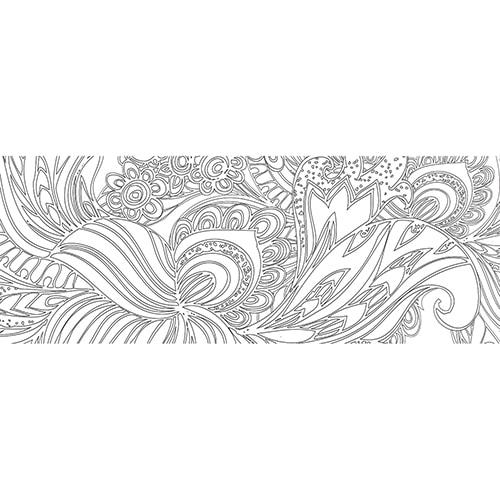 Sticker adhésif Fleurs déco pour tête de lit