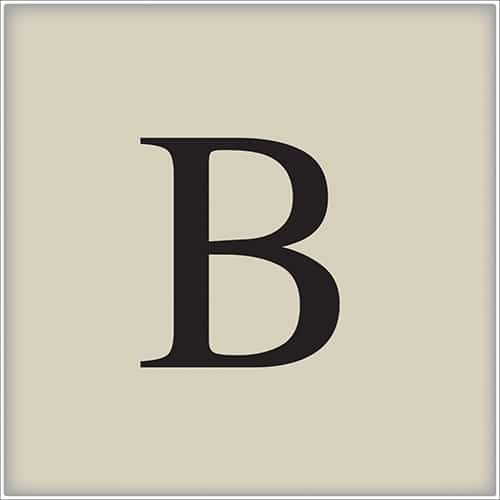 Sticker adhésif pour déco d'intérieur alphabet lettre