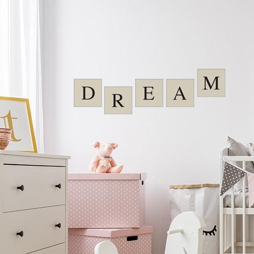 Adhésif sticker pour décoration de mur de chambre d'enfant alphabet lettre