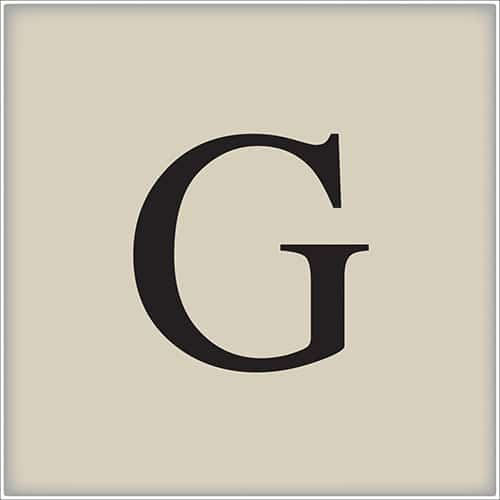 Sticker autocollant lettre d'alphabet beige et noir