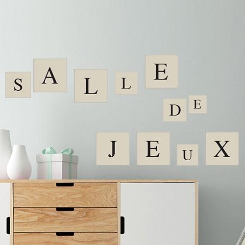 Adhésif sticker alphabet lettre