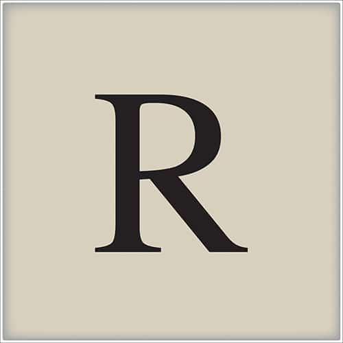 Sticker autocollant d'alphabet lettre