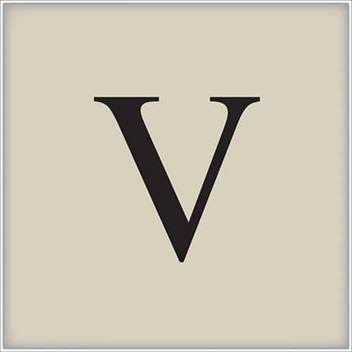 Sticker autocollant alphabet beige et noir lettre