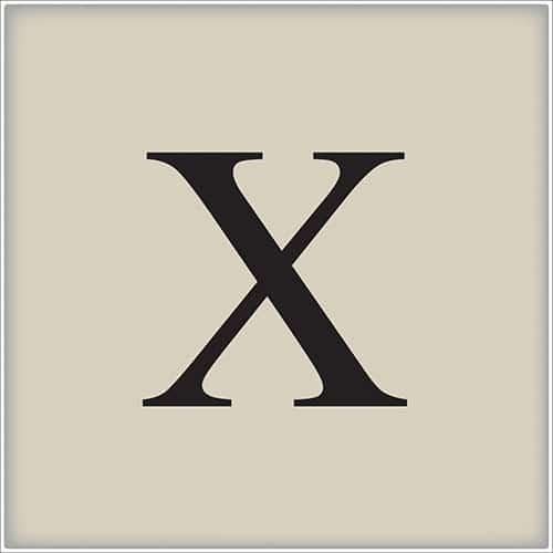 Sticker adhésif lettre d'alphabet