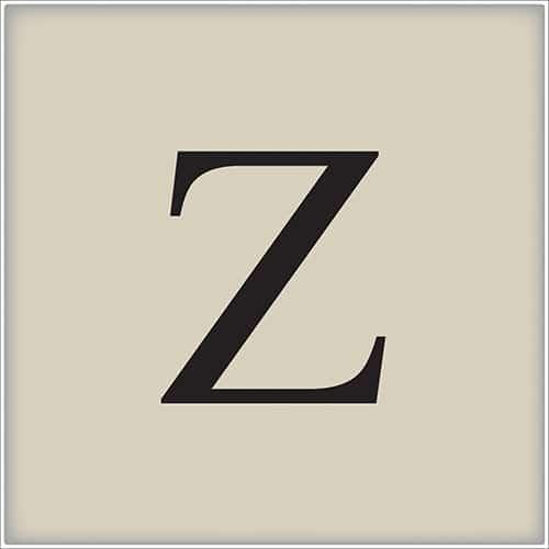 Sticker adhésif lettre de l'alphabet