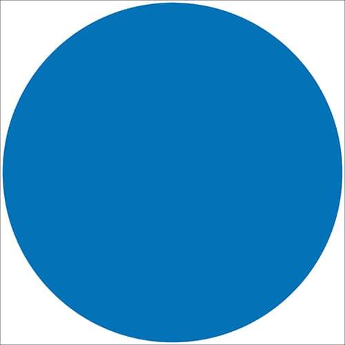 Sticker adhésif rond bleu pour décoration d'intérieur