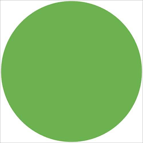 Sticker adhésif rond vert pour décoration d'intérieur