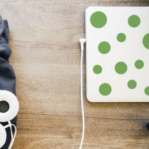 Autocollant déco d'ordinateur portable sticker rond vert
