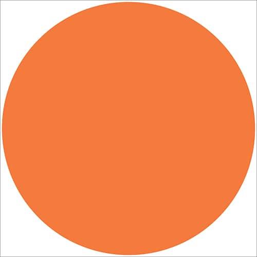 Sticker autocollant rond orange pour déco intérieur de maison