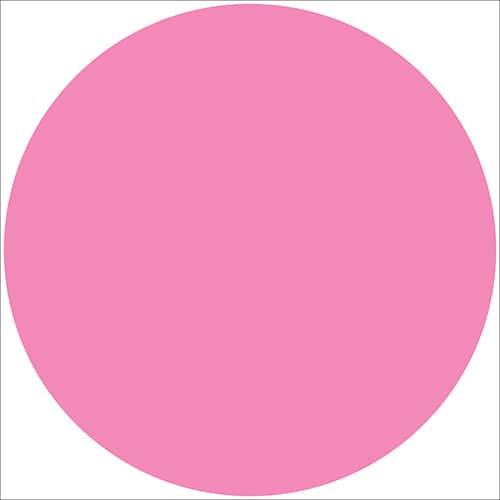 Sticker adhésif rond rose pour déco intérieur