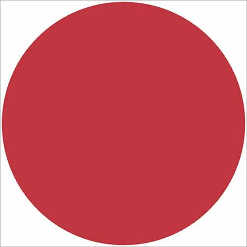 Autocollant sticker rond rouge pour décoration intérieur