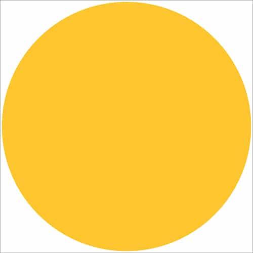 Sticker adhésif déco d'intérieur rond jaune
