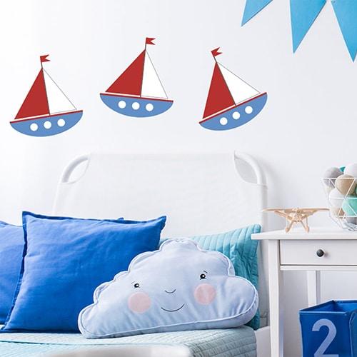 Frise de stickers voiliers pour enfants