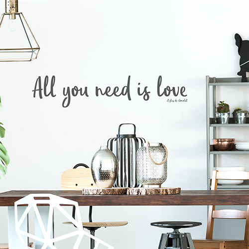 Sticker mural All You need dans un salon moderne