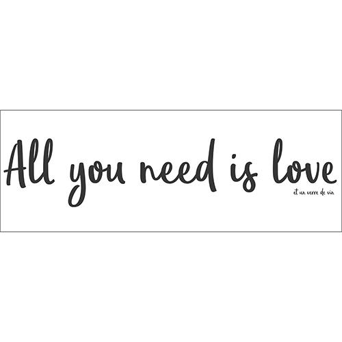 Sticker adhésif pour déco mur citation humour et amour