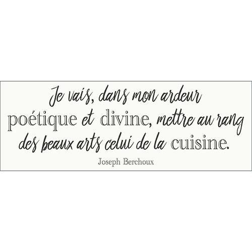 Sticker autocollant décoration d'intérieur citation poétique pour cuisine