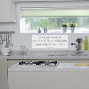 Autocollant citation poétique pour décoration de cuisine moderne