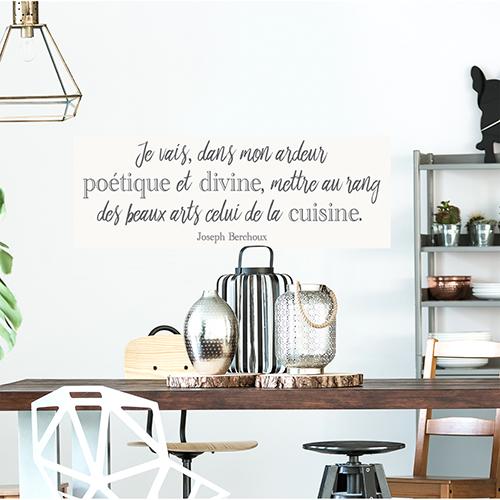 Sticker mural Poétique au dessus d'une table à manger