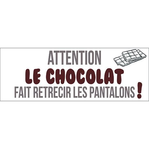 Sticker autocollant décoration mural chocolat pantalon pour cuisine