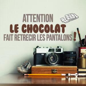Autocollant chocolat pantalon pour décoration de bureau ancien