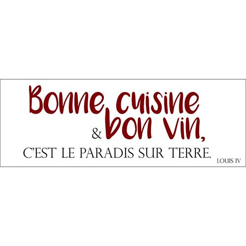 Sticker autocollant pour cuisine citation ambiance paradis sur terre