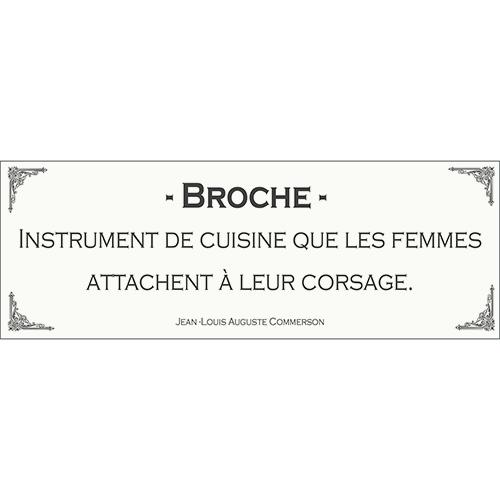 Sticker autocollant décoration d'intérieur citation définition de broche