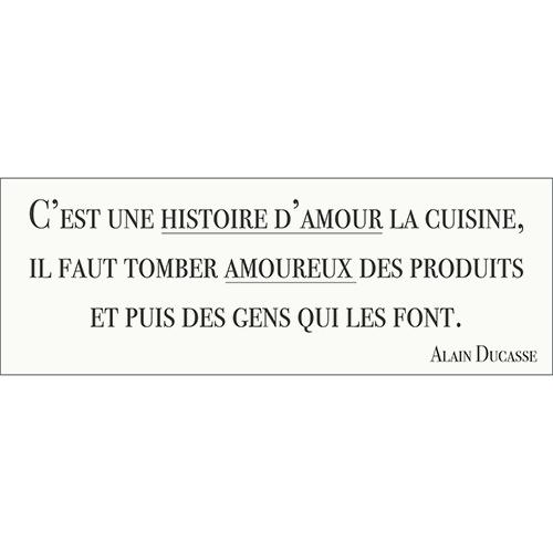 Sticker autocollant histoire d'amour cuisine citation décoration