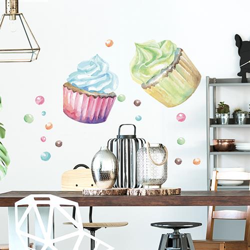 Sticker Cupcakes déco pour salon