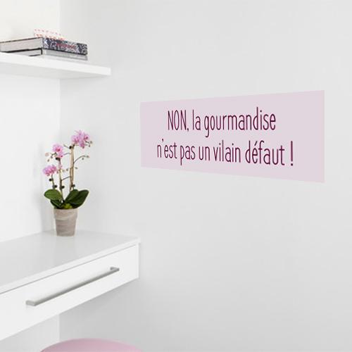 Adhésif gourmandise rose citation affiche rectangulaire pour décoration de bureau