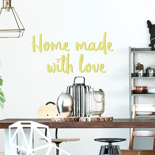 Sticker Home made déco pour salle à manger au dessus d'une table