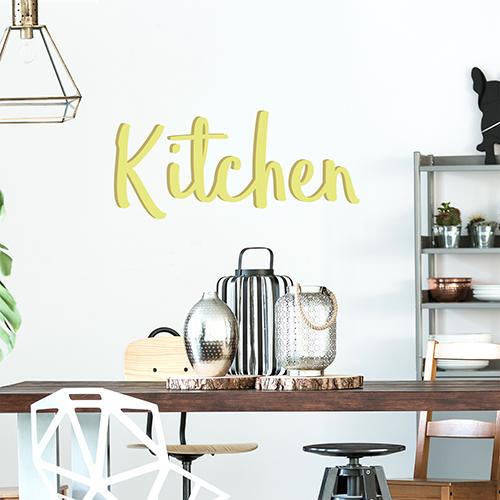 Sticker Kitchen citation pour table à manger