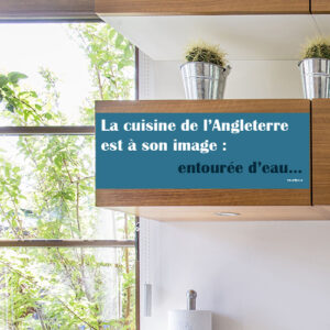 Autocollant pour placard de cuisine en bois bleu déco sur l'Angletterre