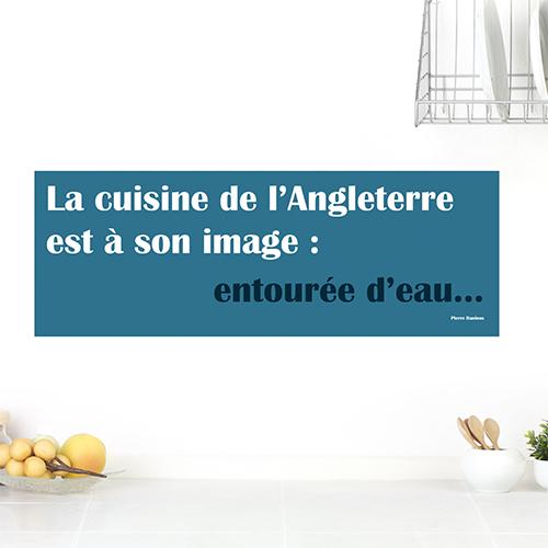 Sticker adhésif Cuisine anglaise déco sur un mur