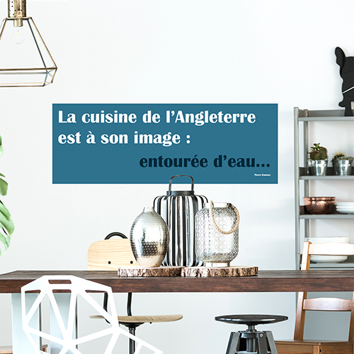 Sticker adhésif Cuisine anglaise pour salle à manger