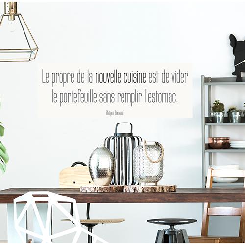 Sticker Nouvelle cuisine déco pour table à manger